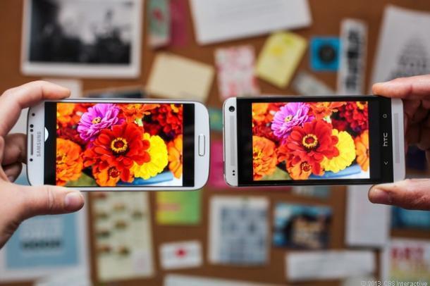 HTC One vs Galaxy S4: Display-ul